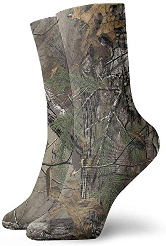 REordernow Kurze Socken Realtree Camouflage Adult Short Socks Cotton Funny Socks for Mens Womens Yoga Hiking Cycling Running Soccer Sports
