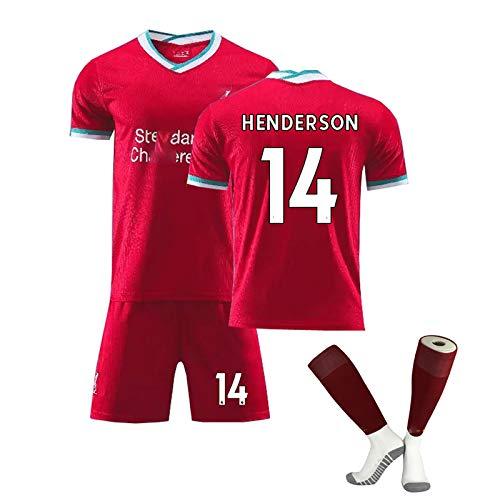 ZYWCXM 2021 Temporada Home Football Jersey, para Virgil 4 Henderson 14 Firmino 9 Salah 11 Mane 10 Jersey Uniforme de fútbol para Hombres y niños, Jersey Personalizable NO.14-XL