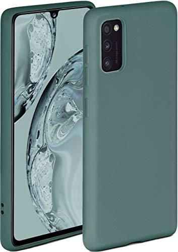 ONEFLOW Soft Hülle kompatibel mit Samsung Galaxy A41 Hülle aus Silikon, erhöhte Kante für Displayschutz, zweilagig, weiche Handyhülle - matt Petrol