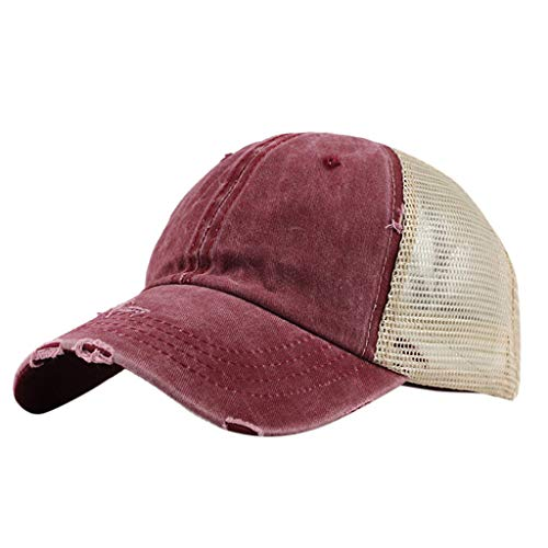 Gorra de béisbol vintage para hombre, de malla, transpirable, ajustable, para hombre
