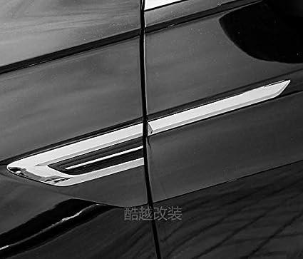 f/ür Tiguan 2//Tiguan 2 Allspace 2016-2021 Seiten Schwarz Zierleiste ABS Kunststoff 4 St/ück 4motion