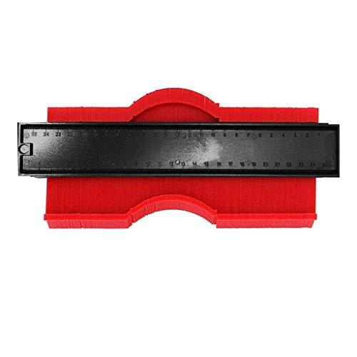 Shape Contour Copy Duplicator Circular Frame Profile Gauge Edge Tool Plastic (Red)