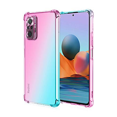 Jeelar case for Xiaomi Redmi Note 10 Pro,Rreinforced Corner,Shock-proof Corners Gradient Color DesignAnti-scratch Soft TPU Silicone Phone Case