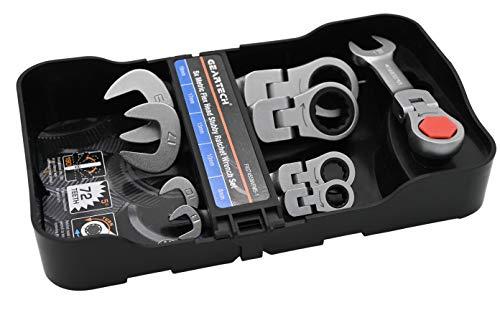 Geartech - Mini/Kurze Maul-Ring-Ratschenschlüssel mit Gelen