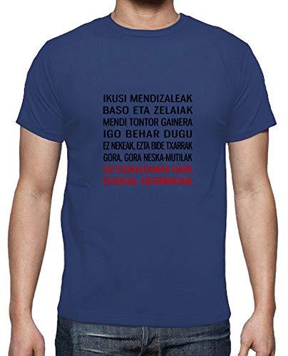 latostadora - Camiseta Ikusi Mendizaleak para Hombre Azul Royal M