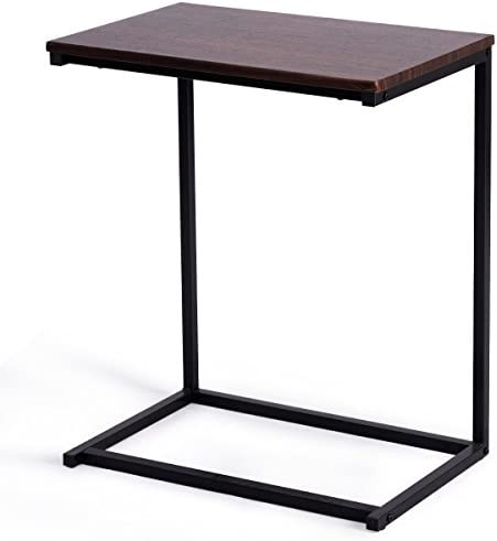 Best GOFLAME Sofa Side End Table with Hardwood C Table Laptop Holder End Stand Desk Coffee Table Notebook