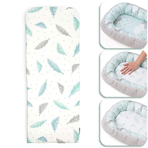 TINY STAR : Coussin pour bébé pour nid d'enfant pour favoriser le sommeil nourrissant – Facile à laver et à sécher rapidement – Base respirante 25 x 68 cm 0-6 mois