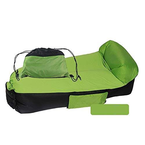 YANG Portable Lazy Couch Inflatable Sofa Bed Outdoor Travel Sofa Foldable Air Cushion Anti-sag Pillow,Camping Inflatable Air Lounger Garden Accessories