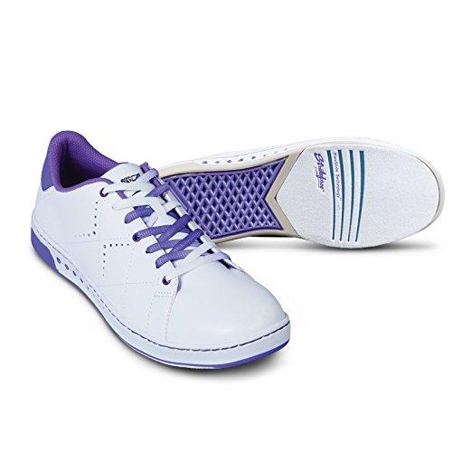 KR Strikeforce Women's Gem Bowling Shoes, White/Purple, Size 8.5