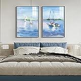 Impresión en lienzo Impresiones de barcos de vela abstractos...