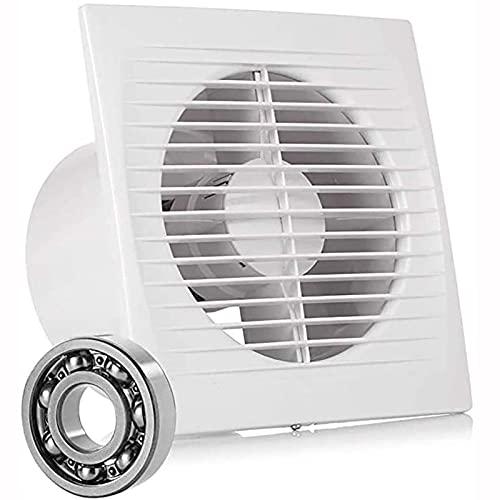 wsxc Ventilador de Escape de la Pared, ventilación del Obturador soplador con bajo Ruido, para Cocina y baño, Anti-Mosquito, Blanco