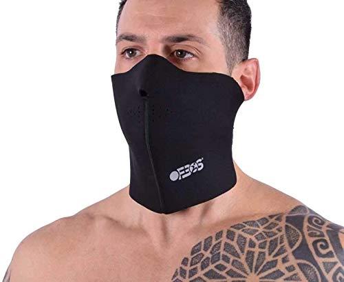 Ofbos® bivakmuts van neopreen onderhelm neopreen masker onderhelm functionele motorafdekking met gaatjes 20 cm hoogte 47 cm lengte Unisex