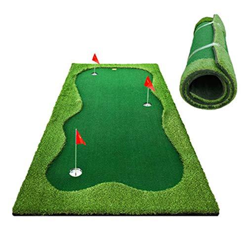 WDXLT Putting Green,Artificial Profesional Poner Práctica,Ayuda Sano Mejorar La Precisión con Pendiente,para El Hogar Patio Trasero Oficina-Versión Premium 150x300cm(59x118inch)