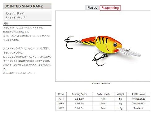 Rapala(ラパラ) シャッド ジョインテッド シャッドラップ 4cm 5g レッドタイガー RDT JSR4-RDT ルアー