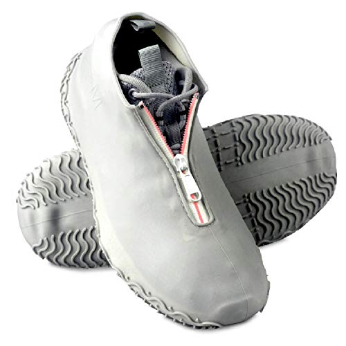 Lady of Luck Cubrecalzado Impermeable, Funda Impermeable Zapatos Silicona Zapatos Aire Libre Camping Pesca Día de Nieve (gris-m)