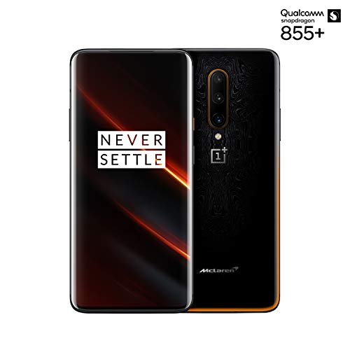OnePlus 7T Pro Mclaren Edition HD1913 Dual Sim 256GB 12GB RAM (GSM Only, No CDMA) Factory Unlocked No Warranty - International Version (Black/Orange)