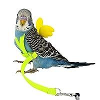 鳥用 ハーネス リード 縄 ロープ 鳥 インコ 小動物 お出かけ 散歩 調節可能 アオハウオ(AWHAO) 鳥 インコ 小動物用 お出かけ 散歩 1本【色:ランダム】