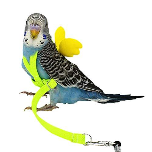 tidystore Correa De Pájaro Mascota Loro Arnés Cuerdas Voladoras Loro Pájaro Leash Arnés De Tracción De Entrenamiento Al Aire Libre Seguridad Fácil De Usar De Nylon Fuerte