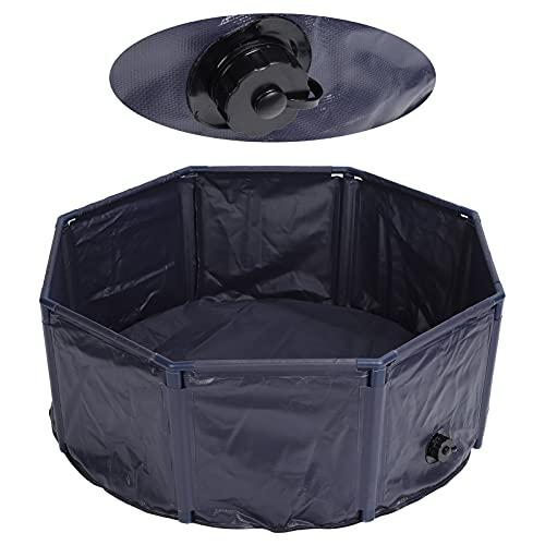 Yeelur Tina de baño para Mascotas, Piscina para Perros, Interior al Aire Libre para niños, Plegable para bebé, bañera para Estanque de Peces(M30/100cm)