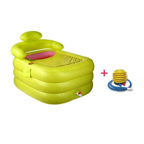 Piscine pour enfants Baignoire gonflable Baignoire pour adulte Baignoire pliante plus épais Baignoire en plastique Bain de lavage Baignoire pour enfants Accueil ( Couleur : A , taille : Foot pump-110*85*75CM )
