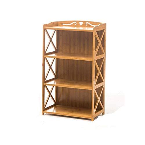HLL Estantería Estante simple Estante simple y moderno de madera maciza Piso de varias capas Estantería para estudiantes Estantería de almacenamiento Estante para zapatos,50x25x100cm,50x25x100cm