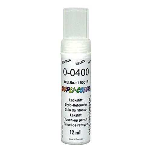 Dupli-Color 190018 Lackstift 2-Schicht-Klarlack 12ml, Transparent