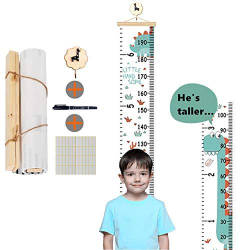 Kinder-Wachstumstabelle mit abnehmbarem Leinen, aufrollbar, Messlatte für Kinderzimmer, Kindergarten, Kindergarten