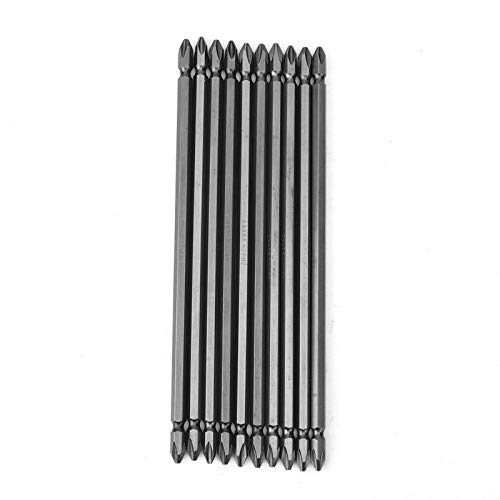 Punta de destornillador de doble cabeza de alta calidad eficiente, acero de aleación de cromo vanadio, 10 piezas, punta de destornillador resistente al desgaste para taladros(20cm)