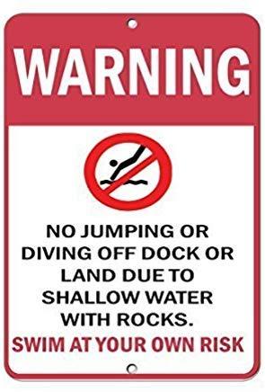 Warning Jumping Diving Due