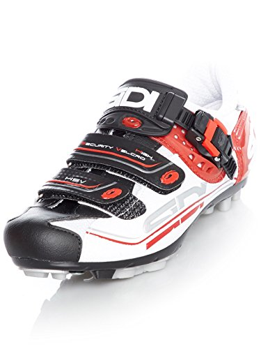 Zapatillas MTB Sidi Eagle 7 Fit Blanco-Negro-Rojo (EU 46, Blanco)