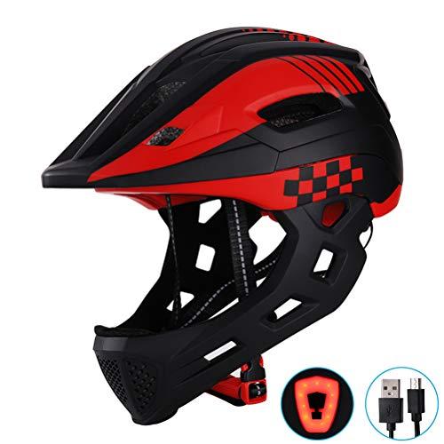 Haplws Casque de sécurité réglable pour Casque de vélo pour Enfants avec Voyant détachable pour Le Patinage en...
