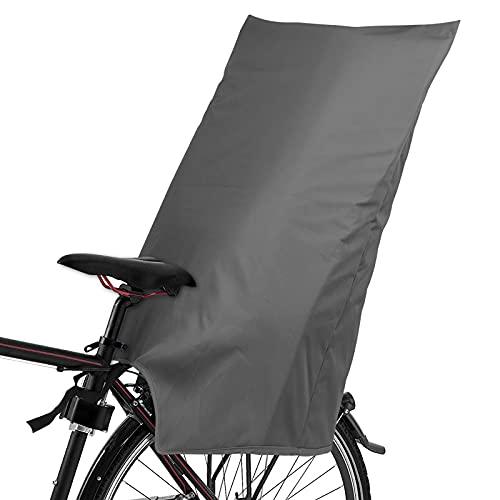 ifoto Regenschutz für Fahrradkindersitz, Regencover Rain Kindersitze, wasserdichte Abdeckung/Regenhülle für Kinder Fahrradsitz hinten, Grau