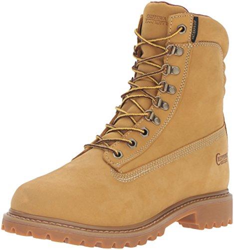Chippewa Men's 8' Waterproof Insulated 24951 Lace Up Boot,Golden Tan Nubuck,7 W US