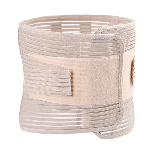 QHGao Cinturón De Respaldo, Diseño De Malla Transpirable, para Ciática, Escoliosis, Alivio del Dolor De Hernia Discal, Cinturón De Compresión Ajustable para Hombres Y Mujeres,L