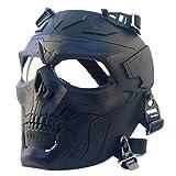Airsoft Máscara de calavera de cara completa Equipo de protección Máscara táctica para Caza Paintball CS Wargame Halloween
