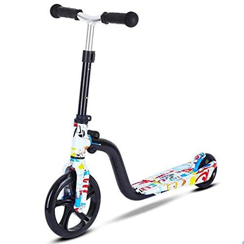 Freestyle Scooter, Kick Scooter para niños - Scooters ligeros Scooter portátil, manillar ajustable Marco de aluminio 2 ruedas Scooter para niños para niños niñas de 3 a 10 años (Color: blanco)