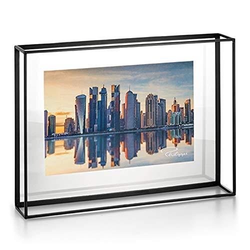 Philippi Quarree Rahmen L Stahl, pulverbeschichtet, Acryl, 40 x 30 x 8 cm