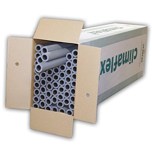 NMC 3008396 54m Rohrisolierung 22 mm x 20 mm 100cm 1m PE Schaum Isolierung Rohrisolation Dämmung Heizungsrohre Heizung