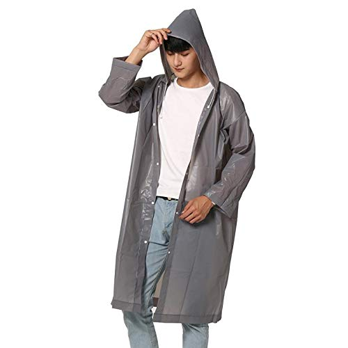 Vrouwen Man Raincoat Verdikte Waterdichte Poncho, Jacket Adult Helder Transparant Camping Hooded Regenkleding Suit