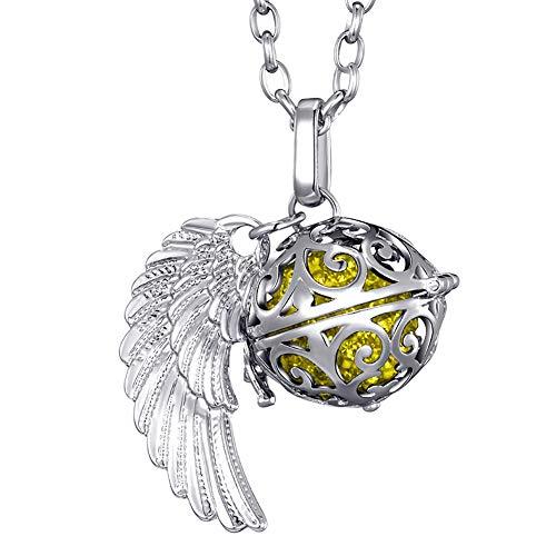 Morella Collar ángel de la Guarda de Acero Inoxidable 70 cm con...