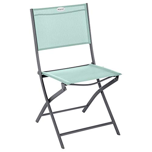 Hespéride Chaise Pliante extérieur Modula Vert céladon/Graphite