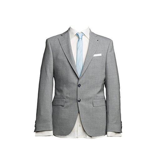 Barutti Größe 28 Sakko Tarso N AMF Hellgrau Meliert Tailored Fit taillierter Schnitt Schurwolle Mischgewebe 8012 28
