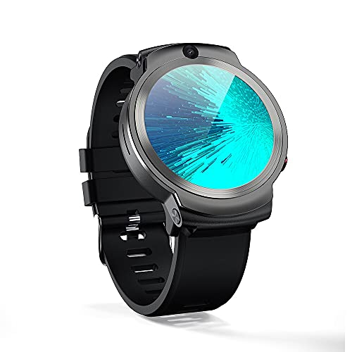 DM28 - Reloj inteligente para hombre con cara y identidad de 1,6 pulgadas, pantalla táctil completa, Android 7.1, 3 G RAM, 32 G ROM, LTE 4 G, GPS, WiFi, monitor de corazón (negro)