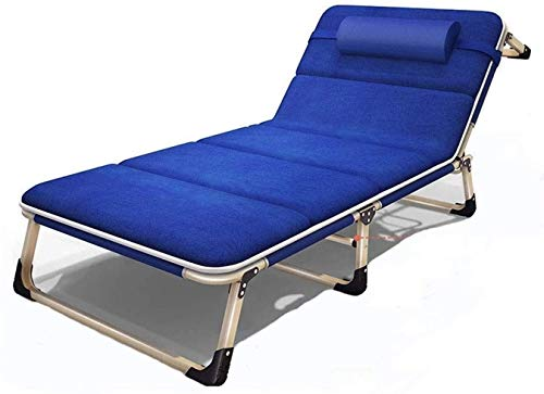 YWTT Muebles de Patio, tumbonas de Moda Un sillón de salón Plegable portátil Verano, Oficina en casa, Cama para la Siesta, Cama de Playa al Aire Libre, Resistente, Acolchado, reclinable, transpir