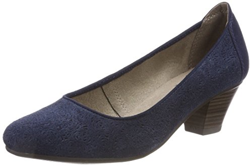 Jana Damen 22301 Pumps, blau (navy), 38 EU