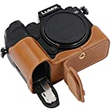 Tailored Case for Panasonic LUMIX S5,easy access to battery door and other connection port. Protect your digital camera from accident drop, made from top quality pu leather. Internal soft layer protects camera from scratches and bumps. Ever Ready - n...