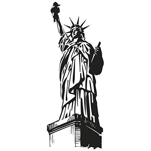 Wandtattoo Freiheitsstatue - S - 29cm x 75cm - 23 mögliche Farben