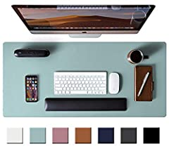 PROTECT YOUR DESK:Made of durable PU leather material, which protects your desk from scratches, stains, spills, heat and scuffs. It also gives your office a modern and professional atmosphere when you put it on your desktop. Its smooth surface will m...