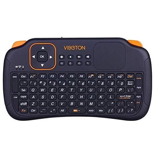 Teclados MJYGV, Mice y Dispositivos de Entrada S1 Air Mouse 83-Keys QWERTY 2.4GHz Mini Teclado inalámbrico Recargable con touchpad para PC, Almohadilla, Android/Caja de Google TV, Xbox360, PS3, HTPC