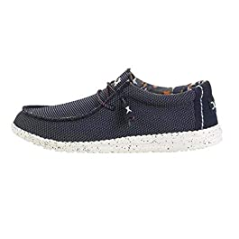 Hey Dude Wally Sox – Men's Casual Slip-On Shoes – Blue Multi – Lightweight Comfort – Ergonomic Memory Foam Insole – Designed in Italy and California – Size EU 43 – US 10 – UK 9